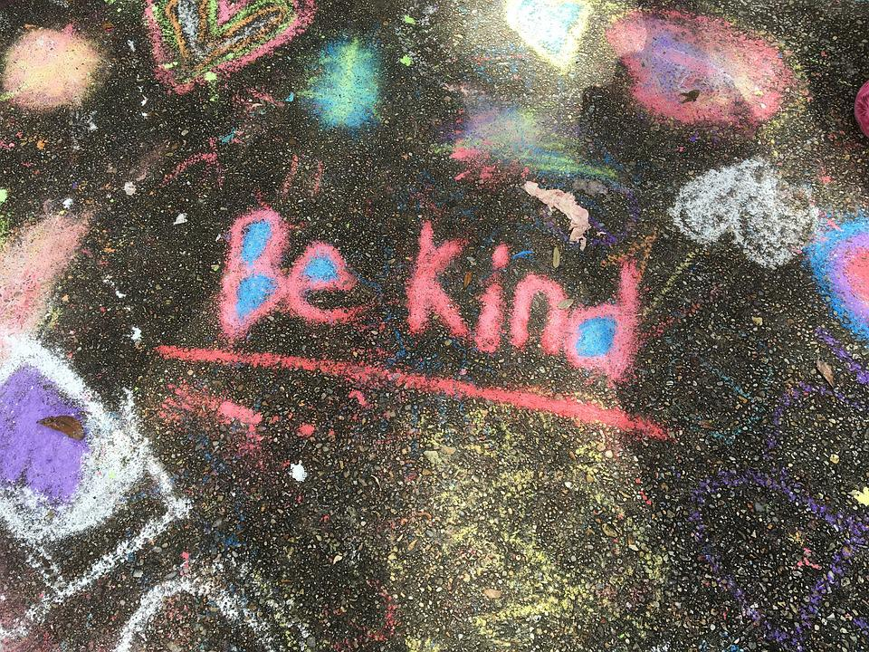 Kindness, Chalk, Handwritten, Word, Handwriting