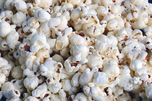 Popcorn, Cinema, Eat, White, Tasty