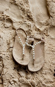 Sand, Beach, Slippers, Sandals