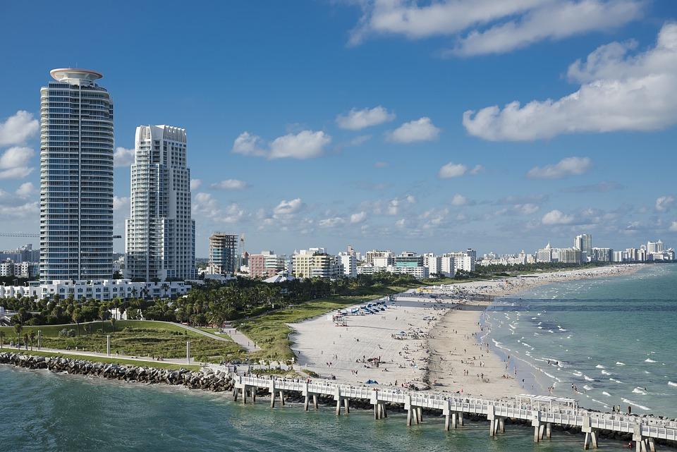 Miami, Strand, Water, Oceaan, Zuid, Miami Beach