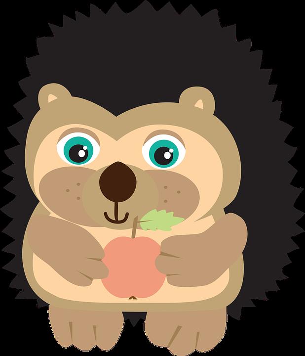 free vector graphic hedgehog  apple  autumn  quills free computer clip art graphics free computer clipart pics