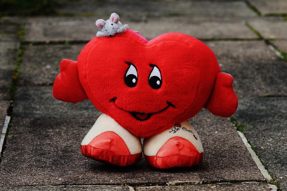 Liebe Herz Lustig Valentinstag Stoff Plüsch Maus