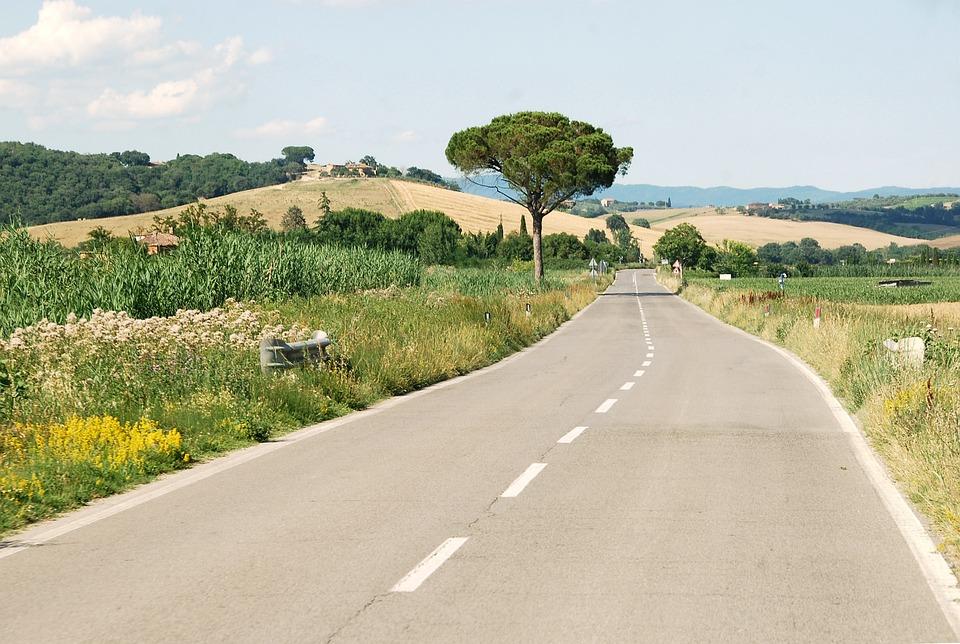 Italië, Tuscany, De Weg, Roadtrip, Landschap