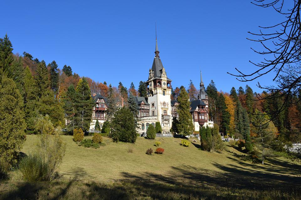 Free photo castle romania blue forest free image on for Romania landscape