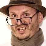 man, hat, glasses