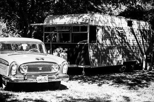 Trailer, Old Car, Vintage, Travel