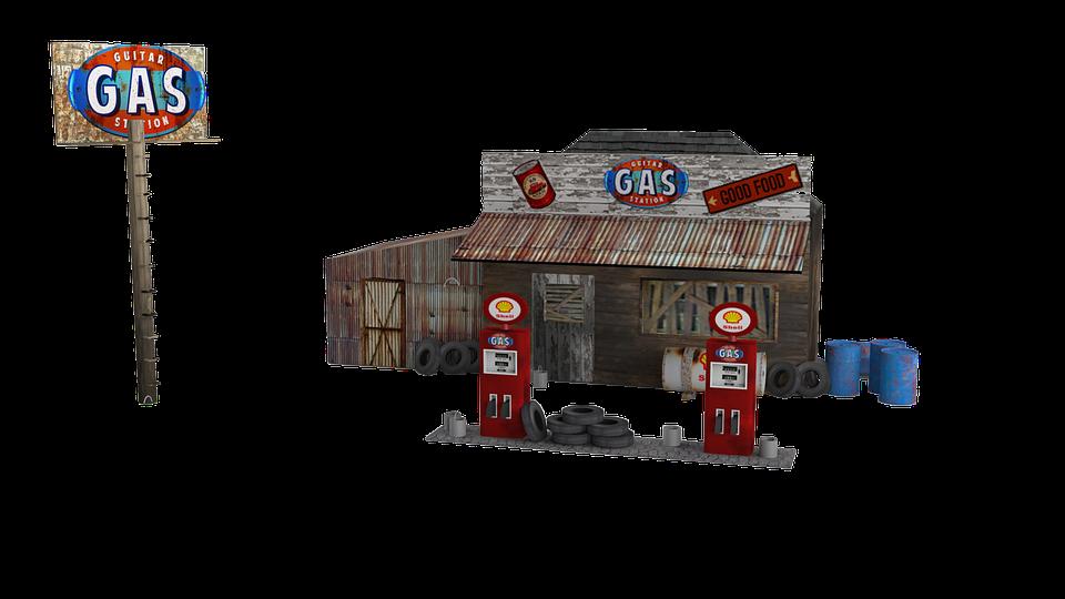 free illustration gas station model gas station free image on pixabay 1203428. Black Bedroom Furniture Sets. Home Design Ideas