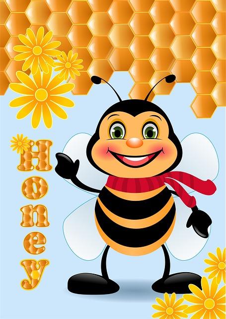 Нарисовать пчелу и мед картинки