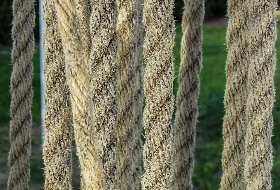 Ropes, Hung, Woven, Decoration, Hotel