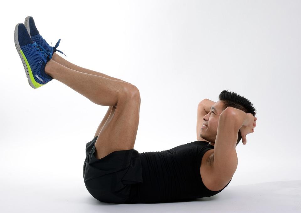 Abdominal, Übung, Fitness, Fitnessstudio, Athlet, Sport