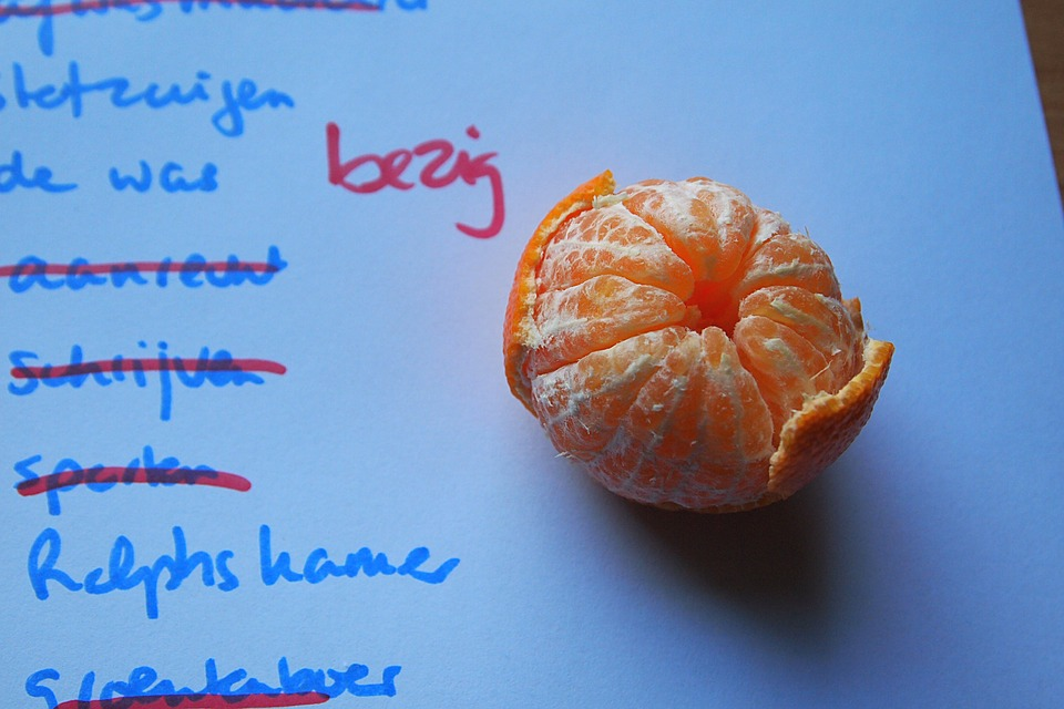 Lijst, Papier, To Do, Pauze, Vitamine, Fruit, Mandarijn