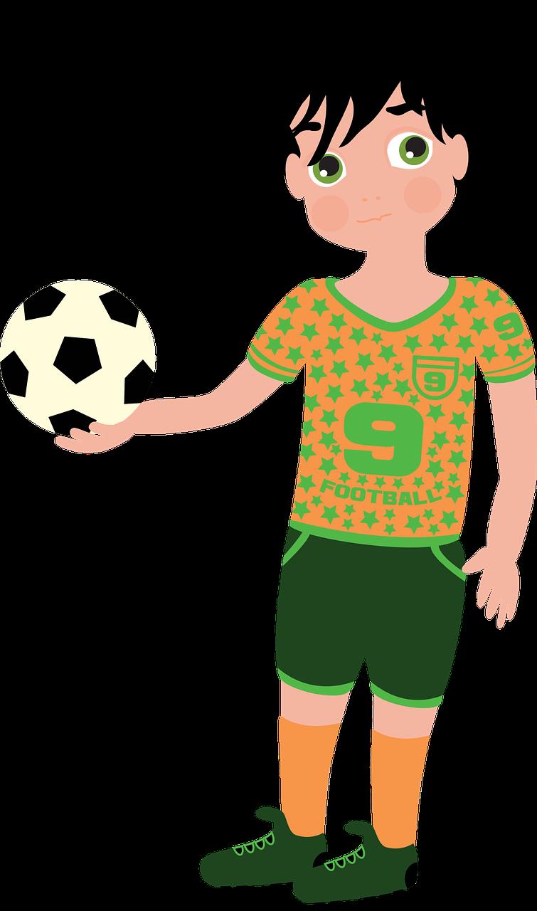 Futbolista, Fútbol, Deporte, Juego, Niño, Jersey, Tacos