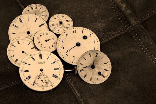 時計, 古い, アンティーク, 時間を示す, 時間, 分, 秒, 時計, 時計