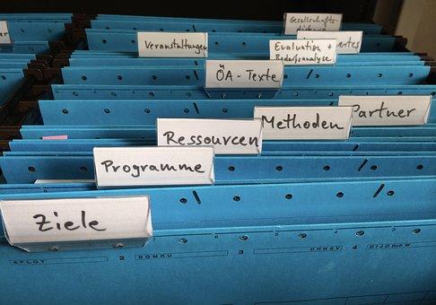 Organização, Registre Se, Pasta