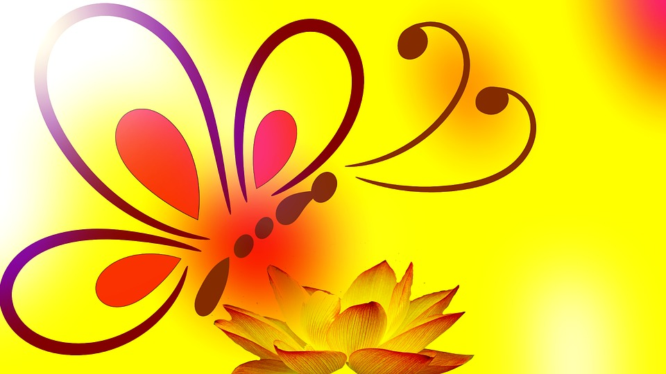 free illustration butterfly background flower free