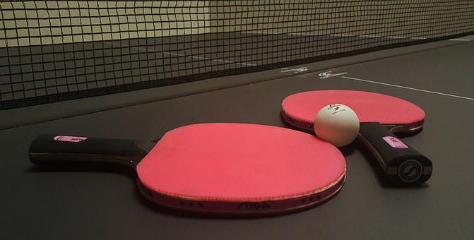 Ping Pong, Table Tennis, Paddles, Table