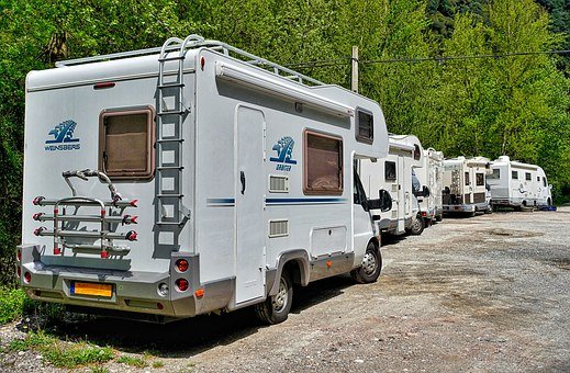 Motorhomes, Park, Campers, Holiday