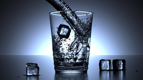 Glass, Water, Ice Cubes, Drink, Cold