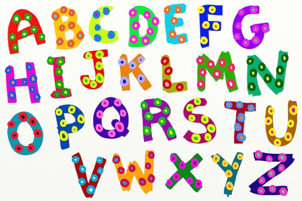Beliebt Illustration gratuite: Alphabet, Texte, Type, Typographie - Image  GV03