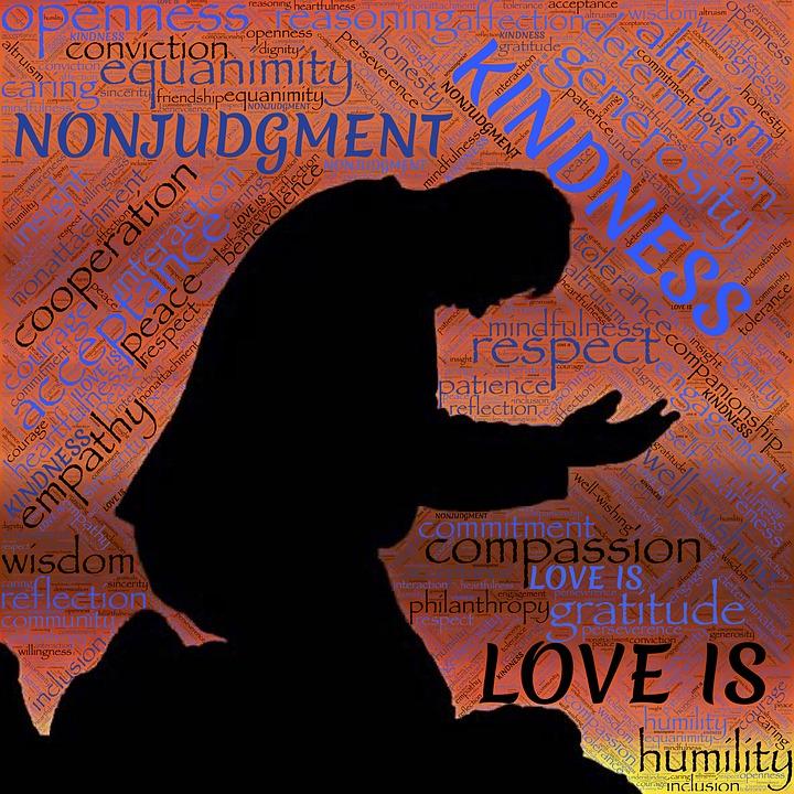 Holiness, Love, Silhouette, Kneeling, Kindness