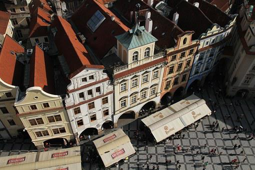 Buildings, Prague, Czech, Town, Tourist
