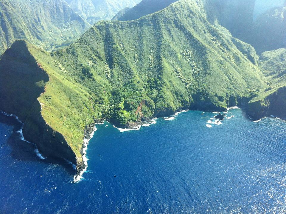 Hawaii, Molokai, Cliffs, Nature, Mountain, Scenic