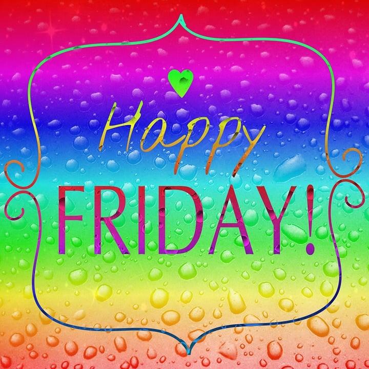 Spruch Freitag Regenbogenfarben Kostenloses Bild Auf Pixabay