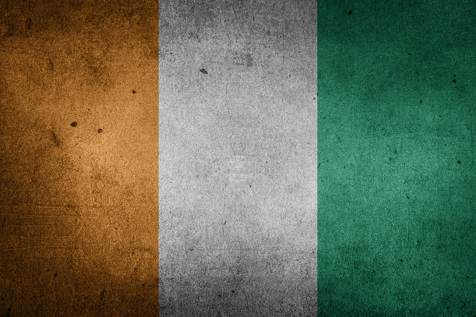 flag cote divoire ivory coast africa national flag
