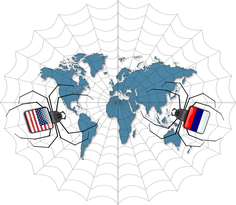 Free Illustration Spider Map World Map Usa Rusia Free Image - Usa on a world map