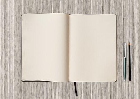 书, 空白, 写, 写作, 笔, 空白的书, 纸, 空, 办公桌