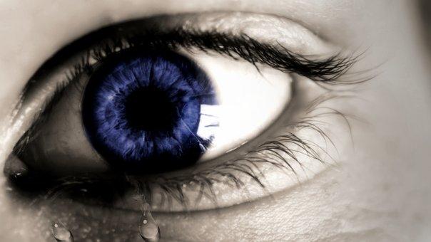 Eye, Tear, Sadness, Cry, Sad, Human