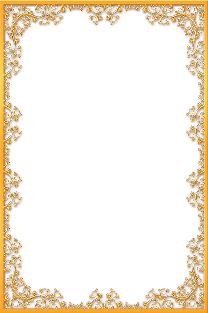 Chalk Transparent Border: Frame Ornate Gold · Free Image On Pixabay