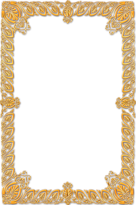 frame ornate gold vintage portrait picture empty