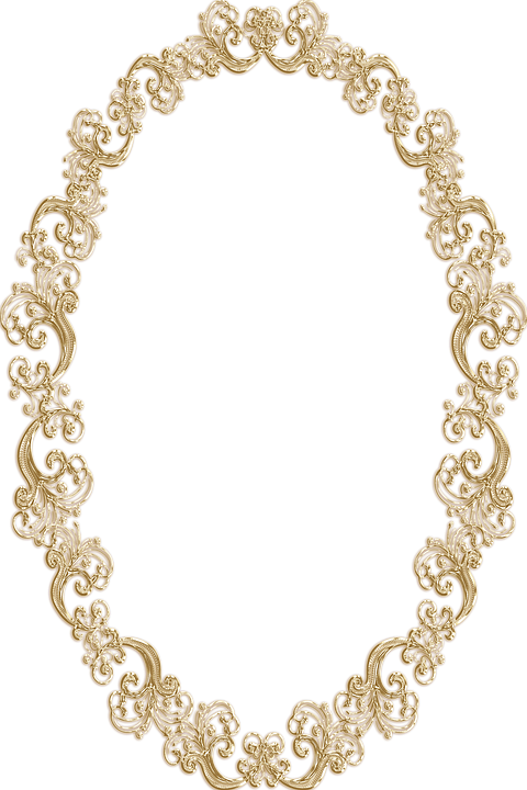 frame ornate oval gold vintage portrait picture