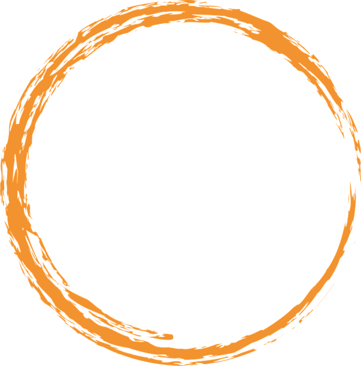 Free illustration Orange Round Circle Paint Brush Free
