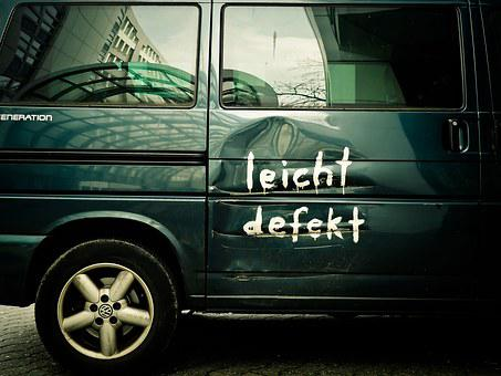 Auto, Vehicle, Automotive, Vw, Old, dent, scratch, broken, car, accident