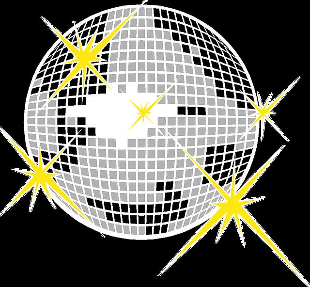 free illustration  glitter  ball  party  seventies