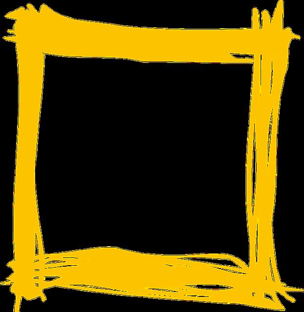 Free Illustration Yellow Frame Holiday Bright Free