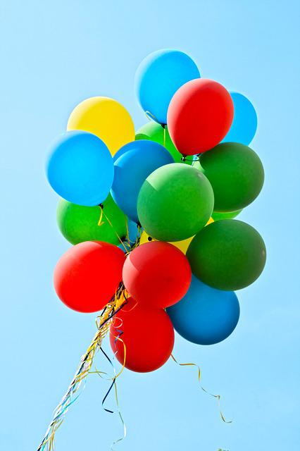 free photo  balloons  party  colorful
