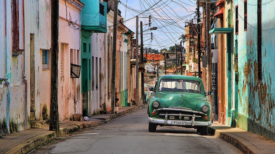 Kuba, Oldtimer, Auto, Samochodowe, Pojazdu, Niebieski