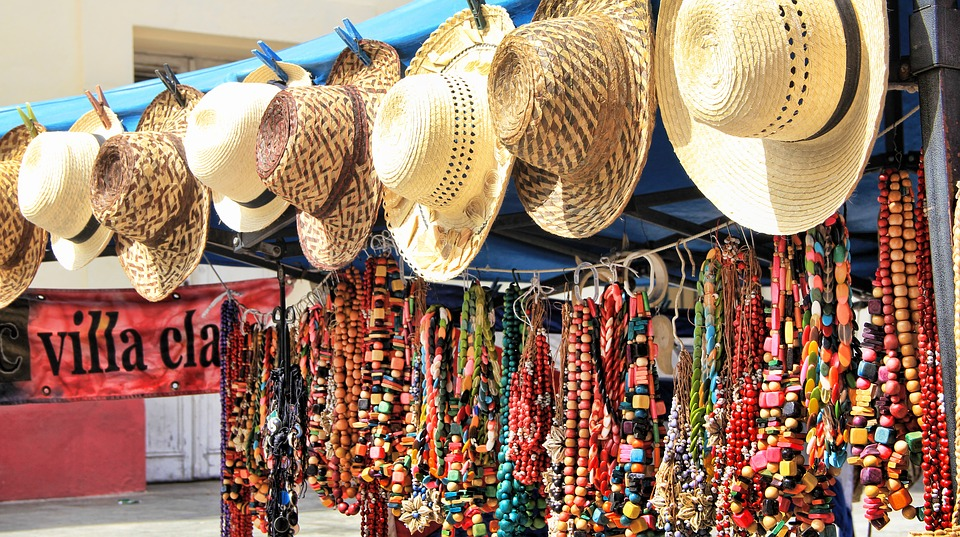 a4dc37389eb cuba souvenir straw hat chains jewellery colorful