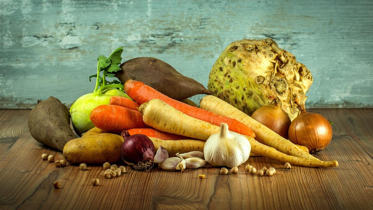 овощи морковь лук сельдерей чеснок