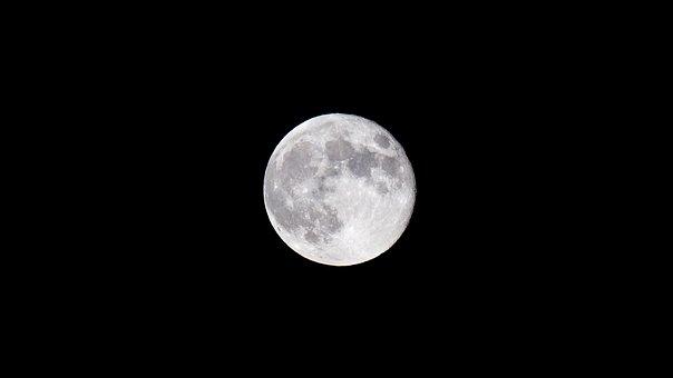 月亮, 夜, 满月, 晚上的月亮, 夜晚的天空图片