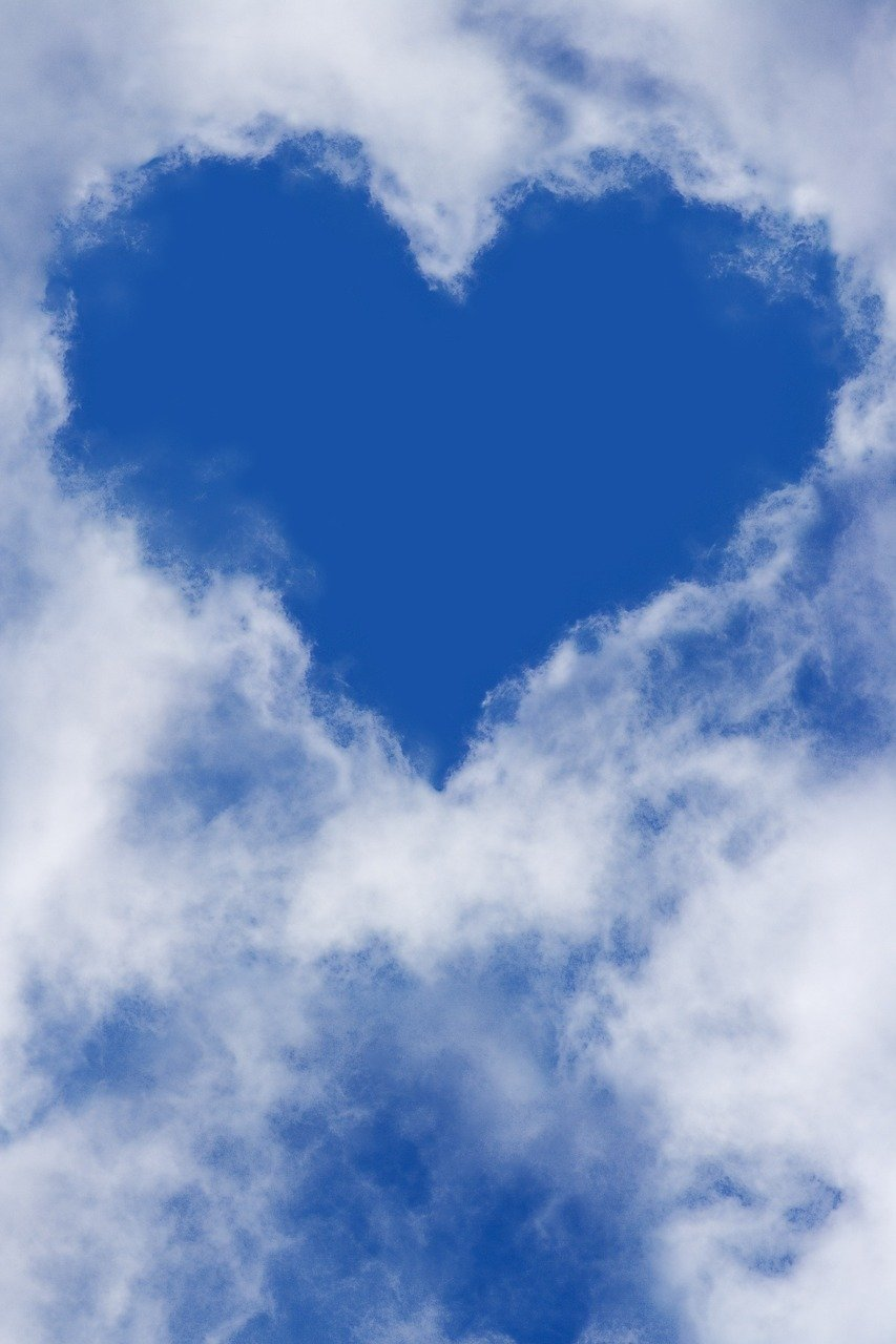 Cuore Cielo Nuvole - Foto gratis su Pixabay