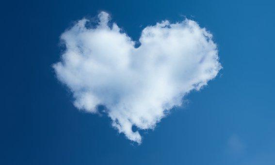 Heart, Sky, Dahl, Blue Sky
