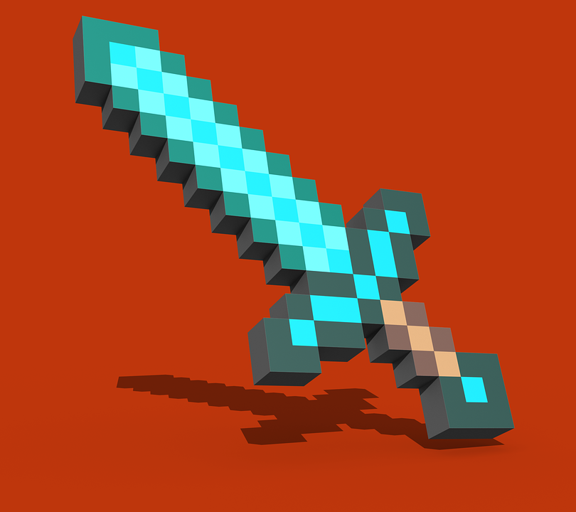 Duvar Kağıdı, Minecraft, Kılıç
