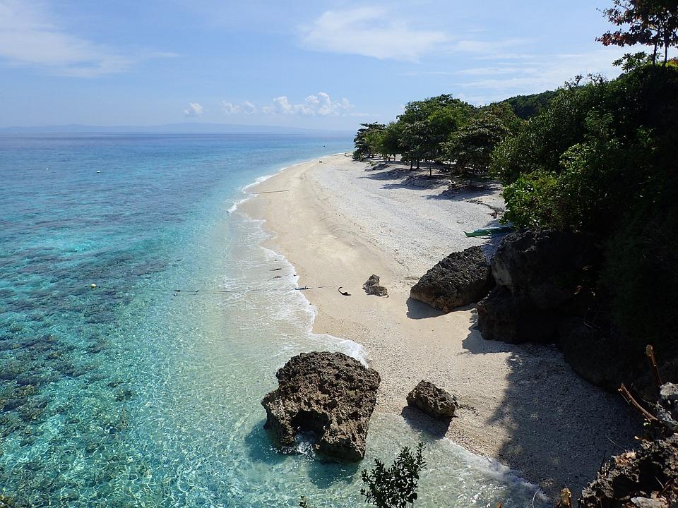 Plage, Oslob, Philippines, Sable, Sumilon Island, Cebu