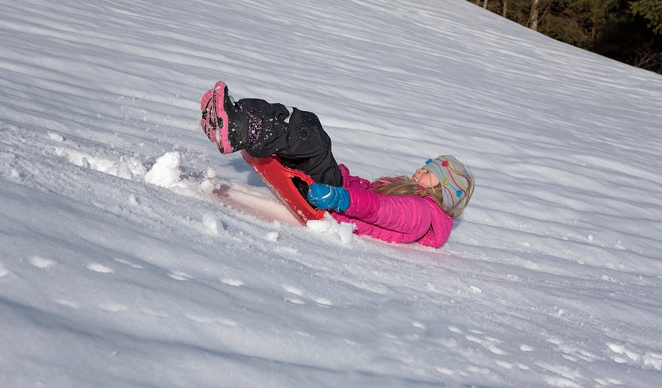 Child, Girl, Bob, Ride On, Downhill, Down, Backwards