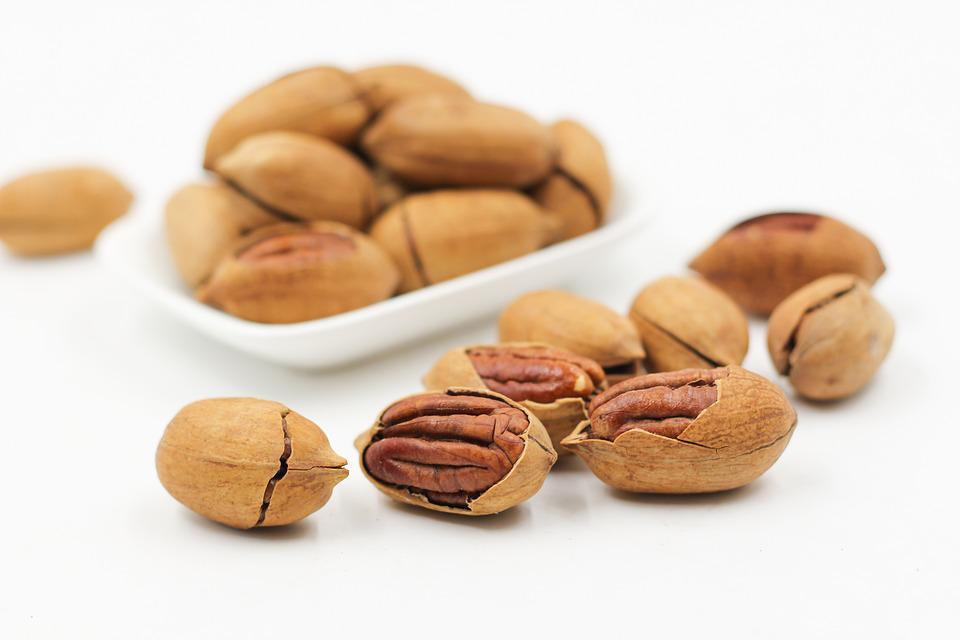 Pecans, Nuts, Cracked, Open, Protein, Food, Snack