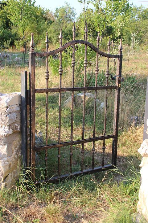Gate Rusty Broken Old Garden Iron